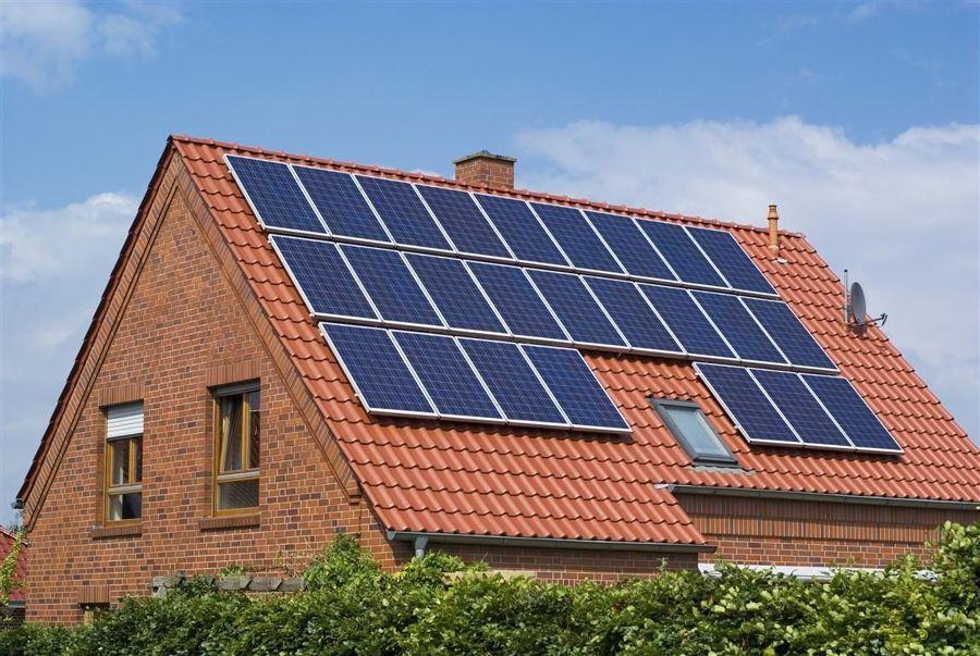 villa pannelli solari