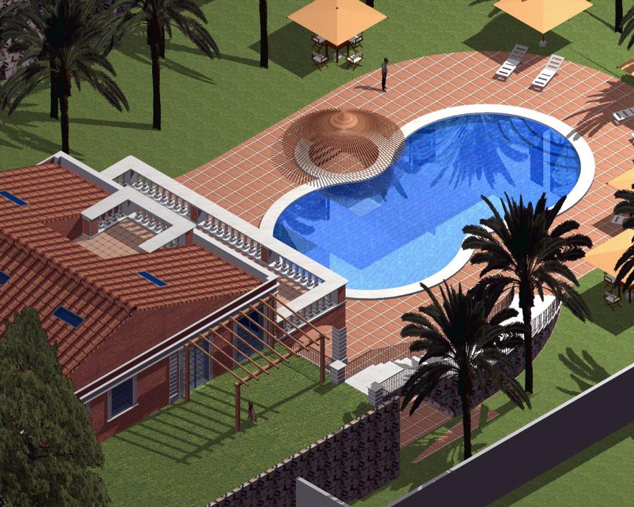 Foto villa unifamiliare con piscina e parco de geom massimo parisi 75089 habitissimo - Progetto villa con piscina ...