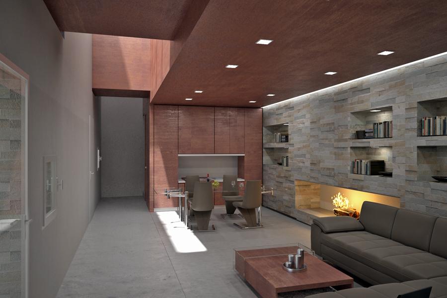 Progetto ristrutturazione ed ampliamento casa privata e for Case ristrutturate interni