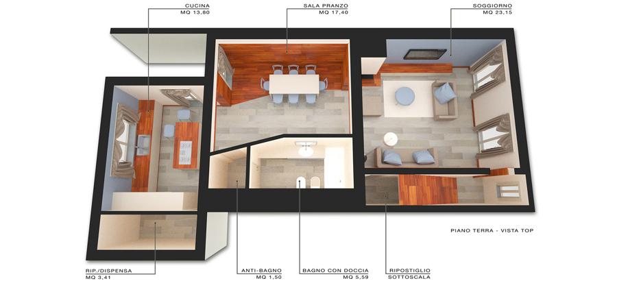 Design d 39 interni per lussuoso appartamento a empoli fi for Idee piano terra