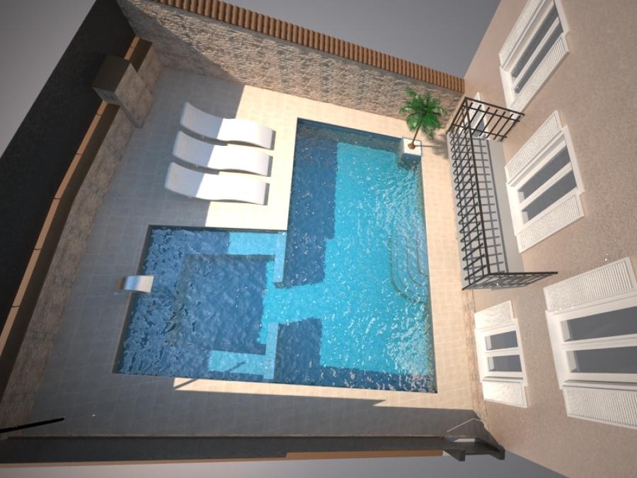 vista dall'alto piscina Paratico