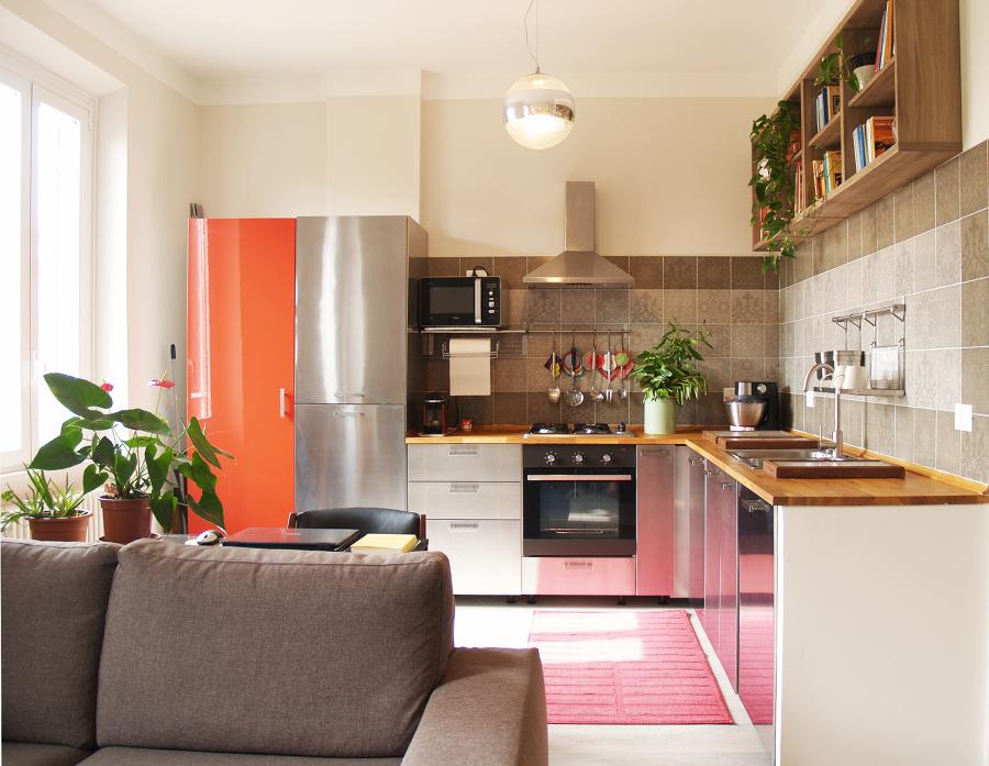 Vista della zona cucina