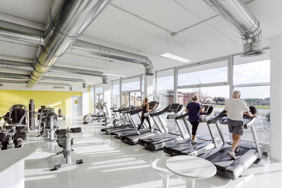 Vista della zona fitness