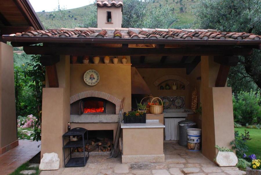 Vista forno e barbecue