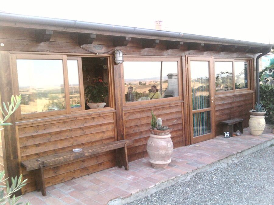 vista frintael veranda a Siena