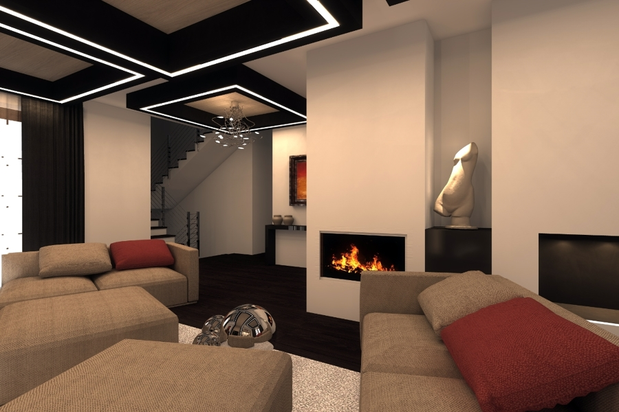 Foto camino design progetto interni torino studioayd de for Architetti d interni famosi