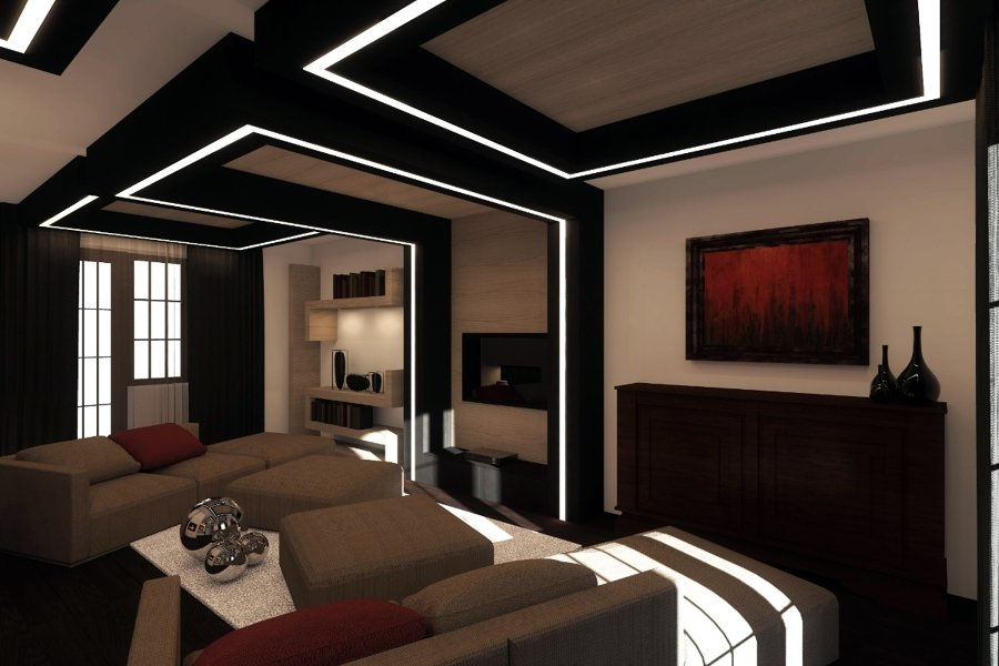 Progetto di interni soggiorno idee architetti - Illuminazione design interni ...