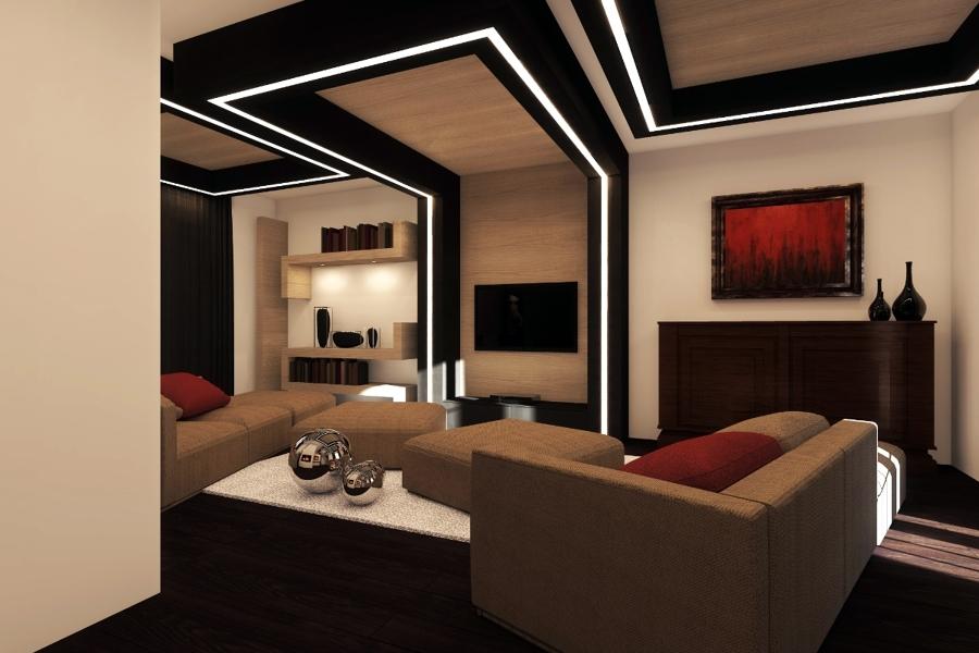 Progetto di interni soggiorno idee architetti for Illuminazione interni casa