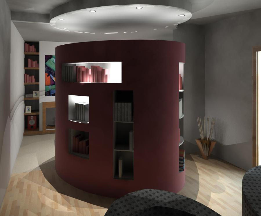 Idee Per Dividere Soggiorno Dalla Cucina : ... libreria la quale ha lo ...