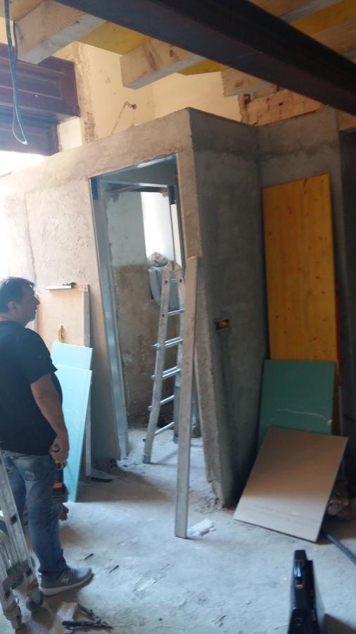 Work in progress (struttura del soppalco e Wc- FASE 2)