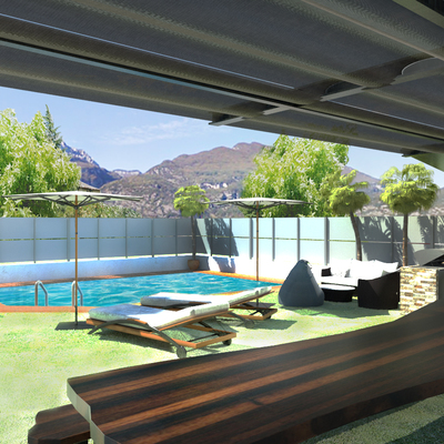 Rinnovo esterni - giardino - piscina - Riva del Garda