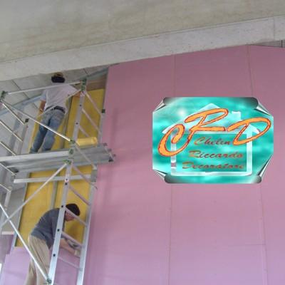 Progetto di rivestimento perimetrale interno coibente termoacustico e suddivisione compartimentale spazi interni R.E.I. 180 con pareti in cartongesso
