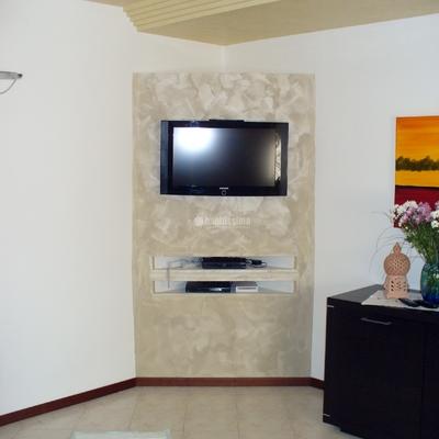 Creazione in cartongesso mobile porta tv