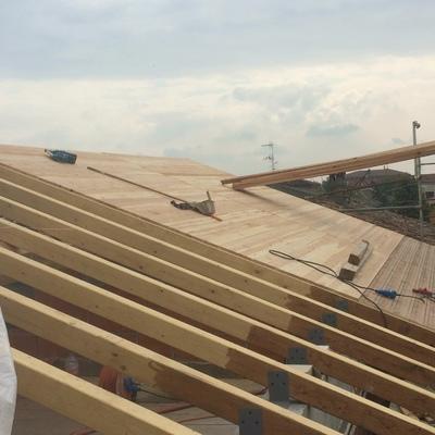 Realizzazione nuova copertura in legno