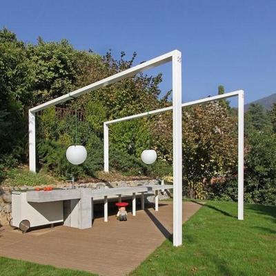 Idee e foto di pergolati bianchi per ispirarti habitissimo - Angolo barbecue in giardino ...