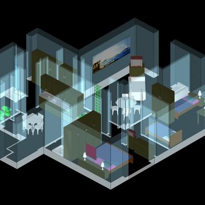 Progetto rendering appartamento a Napoli (NA)