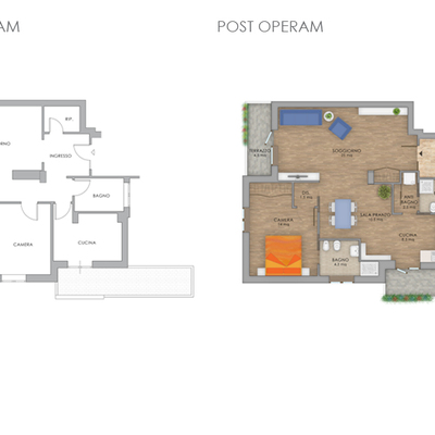 progetto Appartamento Montagnola Roma