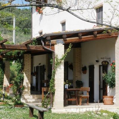 Idee e foto di terrazzo e giardino in stile classico per - Tinteggiare casa esterno ...