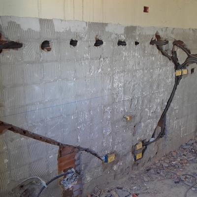 assistenza muraria + impianto idraulico, impianto elettrico