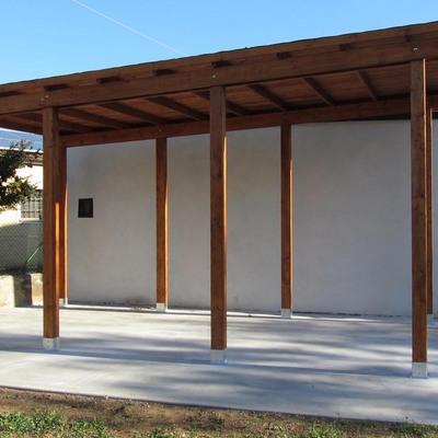 autocover in legno tettoia