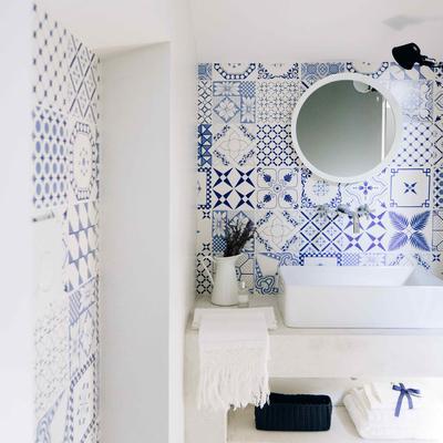 Preventivo piastrelle bagno online habitissimo - Bagno bianco e blu ...