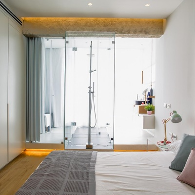 Bagno in camera: tanto carattere in pochi m²