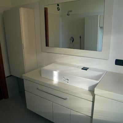 Pin bagno in legno laccato bianco muratura on pinterest for Consonni arredamenti