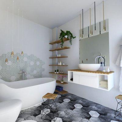 Pavimenti del bagno: metti il design ai tuoi piedi