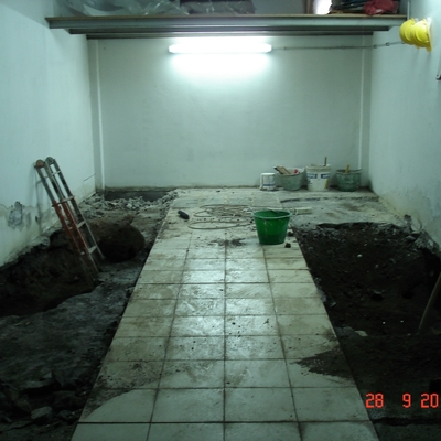 Box garage (inizio lavori)