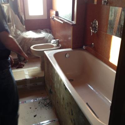 Progetto Sostituzione vasca da bagno con una cabina doccia nuova modello syria
