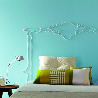 Idee e foto di pareti color turchese per ispirarti habitissimo - Base letto fai da te ...