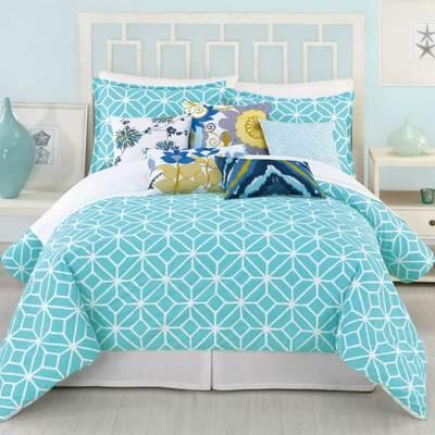 Camera da letto turchese relax