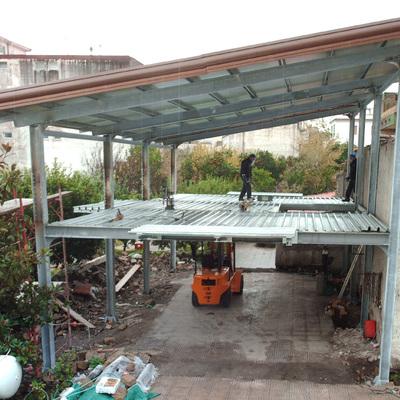 Progetto costruzione capannone su due livelli
