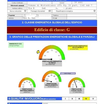 Progetto per Certificazione Energetica D.Lgs. n.311/2006