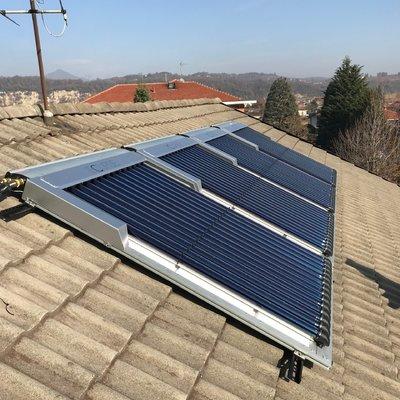 Solare termico per integrazione al riscaldamento