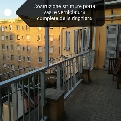Restaurazione ringhiera e costruzione struttura portavasi