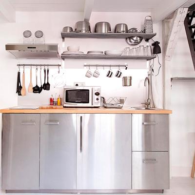 Mobili Cucina Acciaio. Cool Cucina Moderna Interni Con Mobili In ...