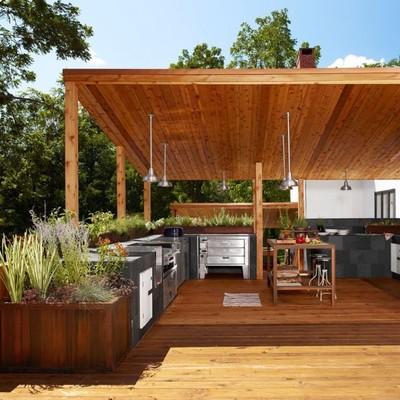 Idee e foto di cucine in giardino per ispirarti habitissimo - Piano cottura da esterno ...