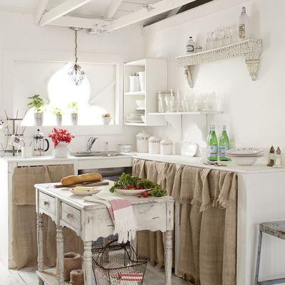 Cucina in muratura in stile shabby chic