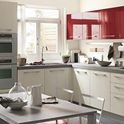 Cucine Rosse. Una Cucina Rossa Grande Carattere With Cucine Rosse ...