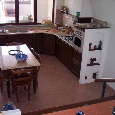 Progetto ristrutturazione Cucina castagno