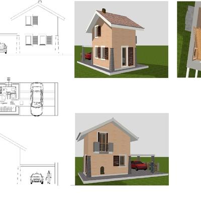 Progetto di Demolizione e ricostruzione edificio residenziale unifamiliare