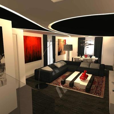 Progetto Design soggiorno minimal