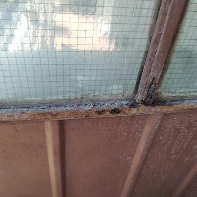 Restauro mobiletti alluminio e divisorio balcone