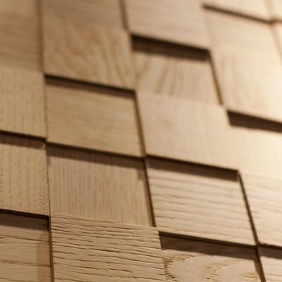 dettaglio mosaico in legno