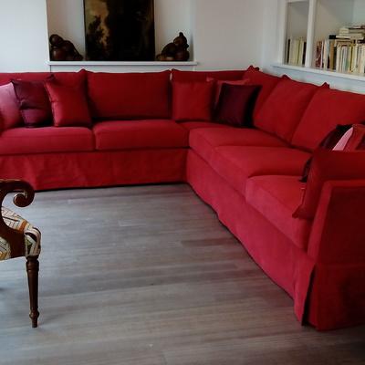 confezione di divano angolare