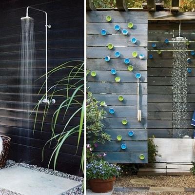 Idee e foto di docce all 39 aria aperta per ispirarti - Docce da giardino in muratura ...