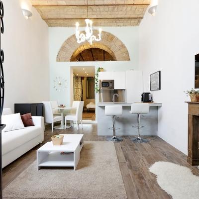 Un piccolo loft in stile eclettico