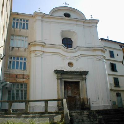 Facciata principale chiesa di Santa Maria del SS. Rosario in Castellammare di Stabia (NA) prima del restauro