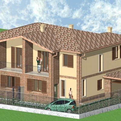 Progetto costruzione ville bifamiliari a Pavia (PV)